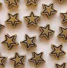 Gold Plated Beads 7mm Star - 20